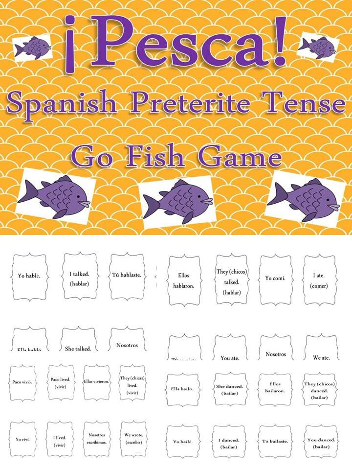 Practice Conjugating Regular Verbs In The Preterite Tense With This Classic Card Game Kids Lo Preterite Tense Preterite Spanish Spanish Teaching Activities