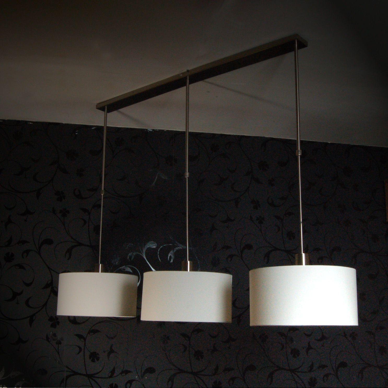 h ngelampe toskana ii esstisch leuchte 3 schirme creme. Black Bedroom Furniture Sets. Home Design Ideas