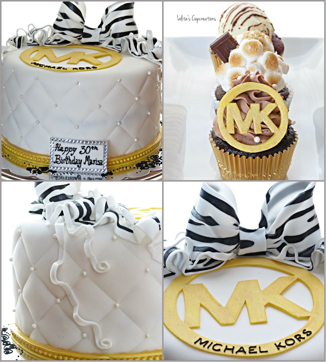 Michaels Cake Decorating Toppers : Michael Kors Inspired Cake and Cupcakes Oven ...