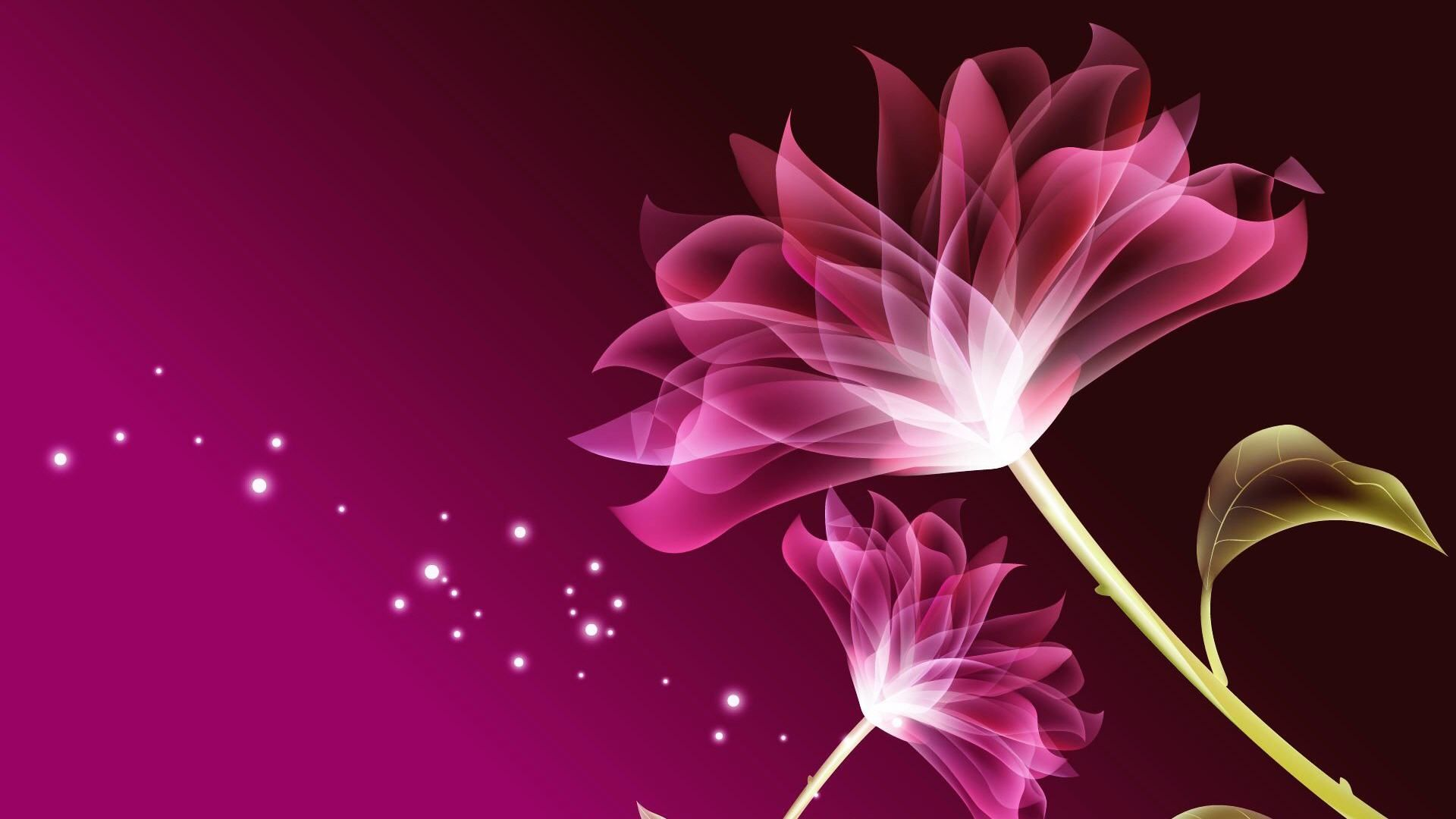 3d Pink Beautiful Flower Wallpaper Pretty Flowers In 2019