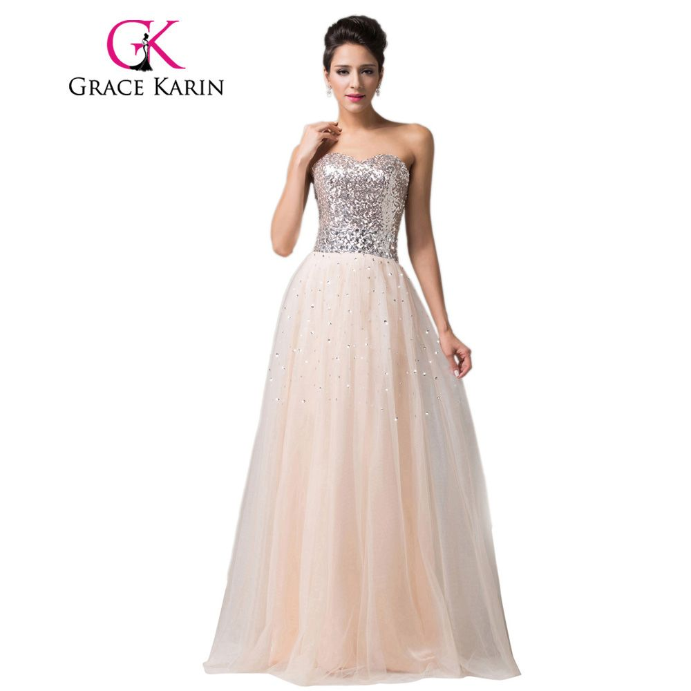 Dress for party wedding  Click to Buy ucuc Grace Karin Long Prom Dress  New Strapless Ball