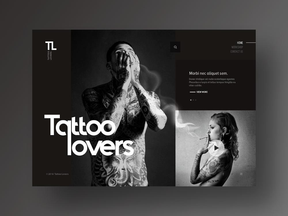 Tattoo Lovers Portal Website Design In 2020 Tattoo Website Portal Website Website Design
