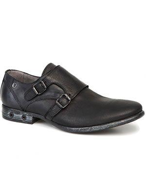 Pantofi Casual Diesel Barbati Negri din piele cu catarame