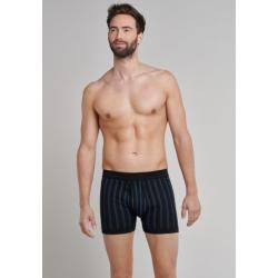 Photo of Short trousers with fine rib and patterned black – Original Classics 9Schiesser.com