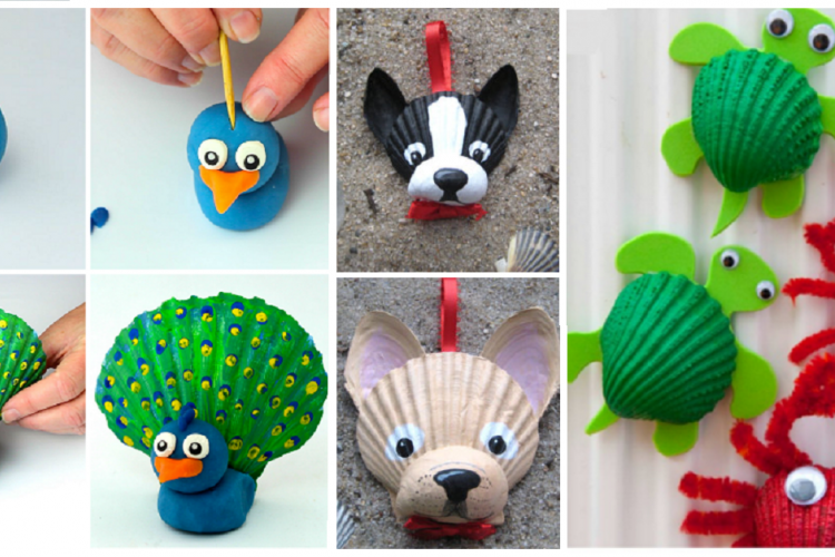 12 bricolages pour les enfants faire avec des coquillages bricolages enfants pinterest. Black Bedroom Furniture Sets. Home Design Ideas