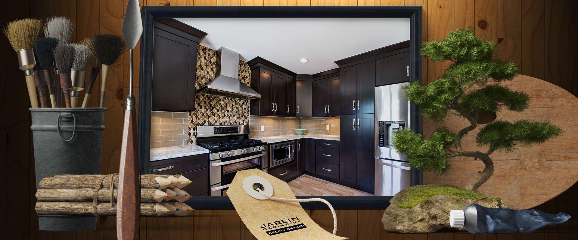 Best Jarlin Cabinetry Ebony Shaker Espresso Cabinets Espresso 400 x 300