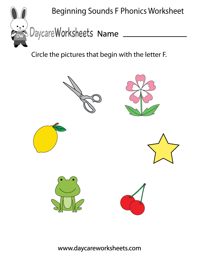 worksheet Letter Sound Worksheets For Pre K this letter f phonics worksheet helps preschoolers identify the learn beginning sounds with our free preschool printables worksheets are an educational tool that associ