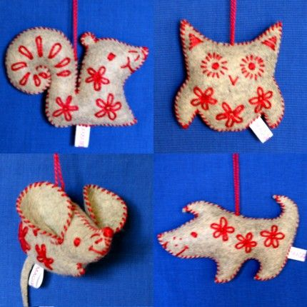 Christmas Animal Ornaments christmas ideas Pinterest Christmas