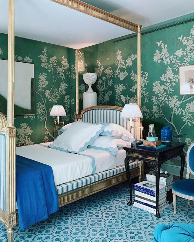 Bedroom Sets With Canopy Bedroom Wallpaper Textures Master Bedroom Chandeliers Black Bedroom Accessories: Mark D. Sikes' Bedroom For Kips Bay Show House