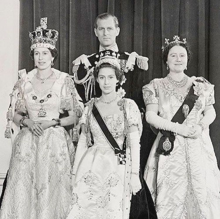 The British Royals At The1953 Coronation Of Her Majesty