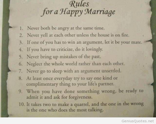 Happy Marriage Rules Quotes And Sayings Wallpaper