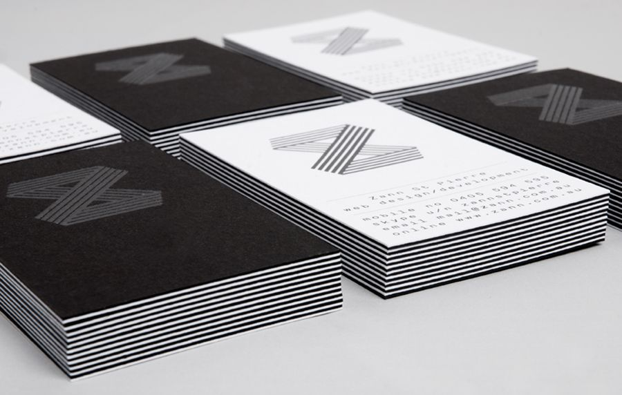 New Visual Identity For Zann St Pierre By Thought Assembly Bp O Business Card Black Business Card Design Card Design