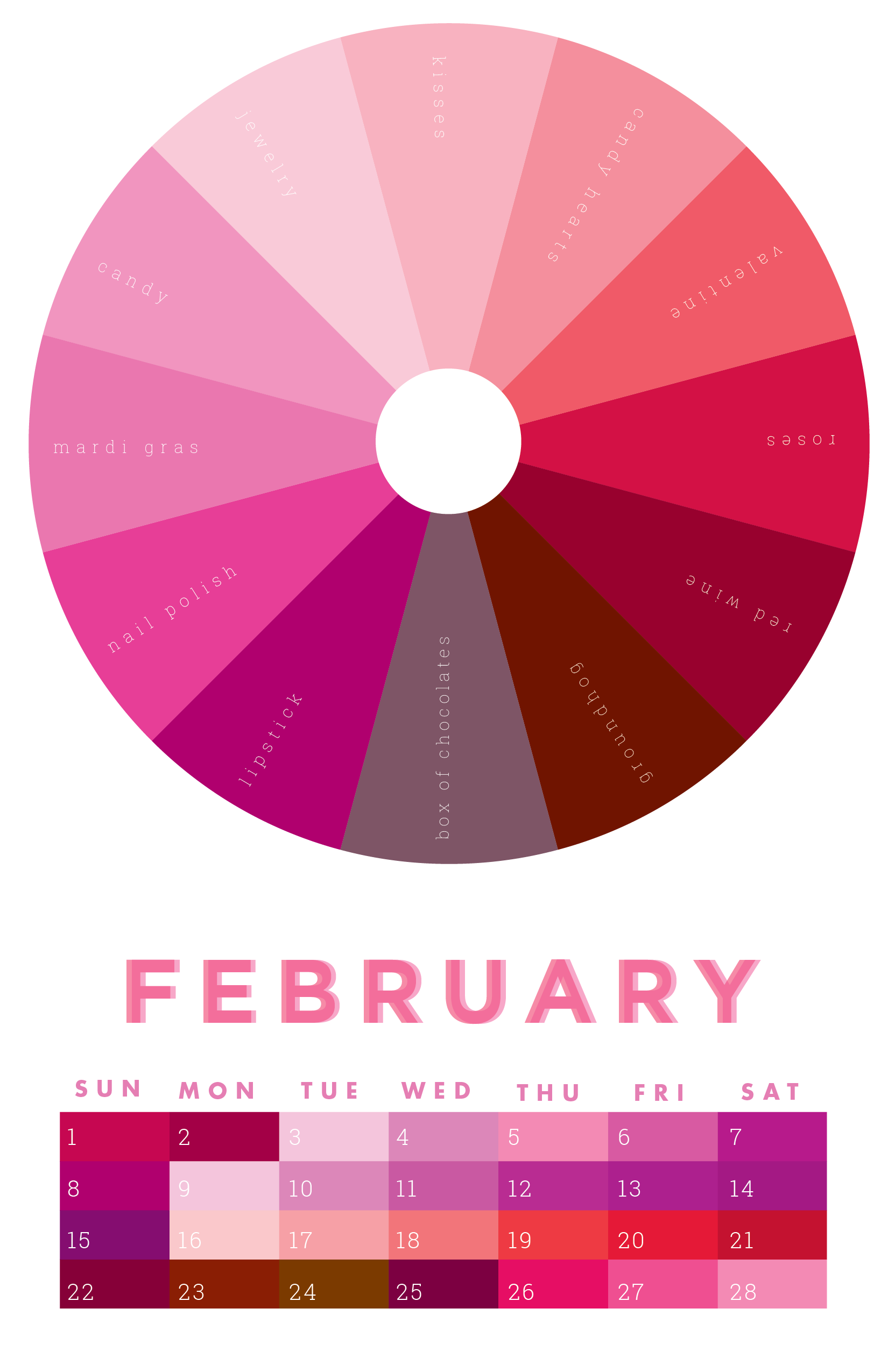 The colors of February | February colors