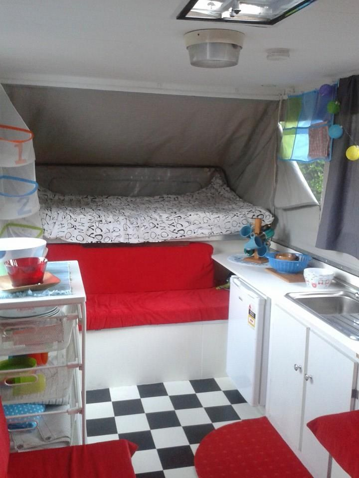 Pop Up Camper Makeover Renovation Retro Vintage 1975 Sunwagon