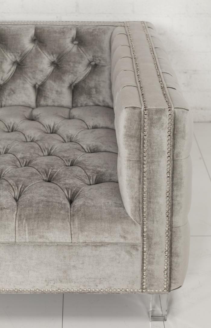 New Deep Custom Tufted Sofa | hogar :) | Pinterest | Sillones ...