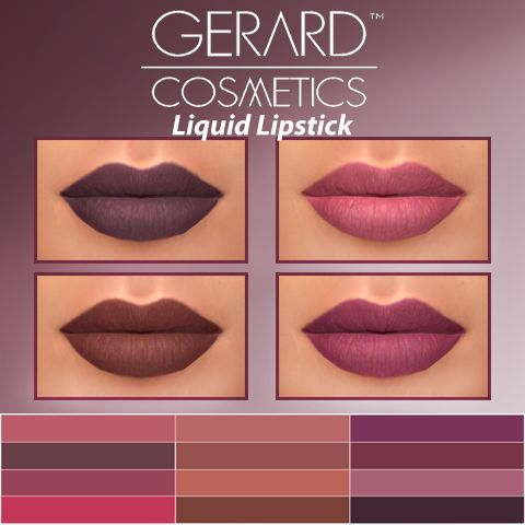HallowSims : Gerard Cosmetics Liquid Lipstick.