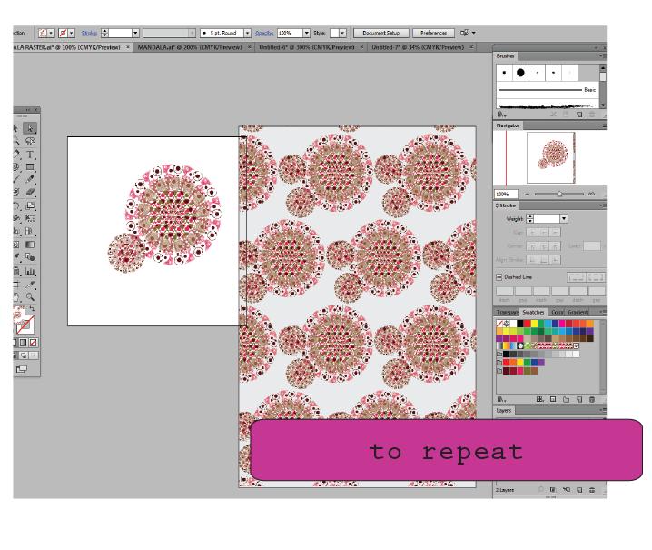 Creating Seamless Tiles In Illustrator Cs6 With Polar Grid Tool