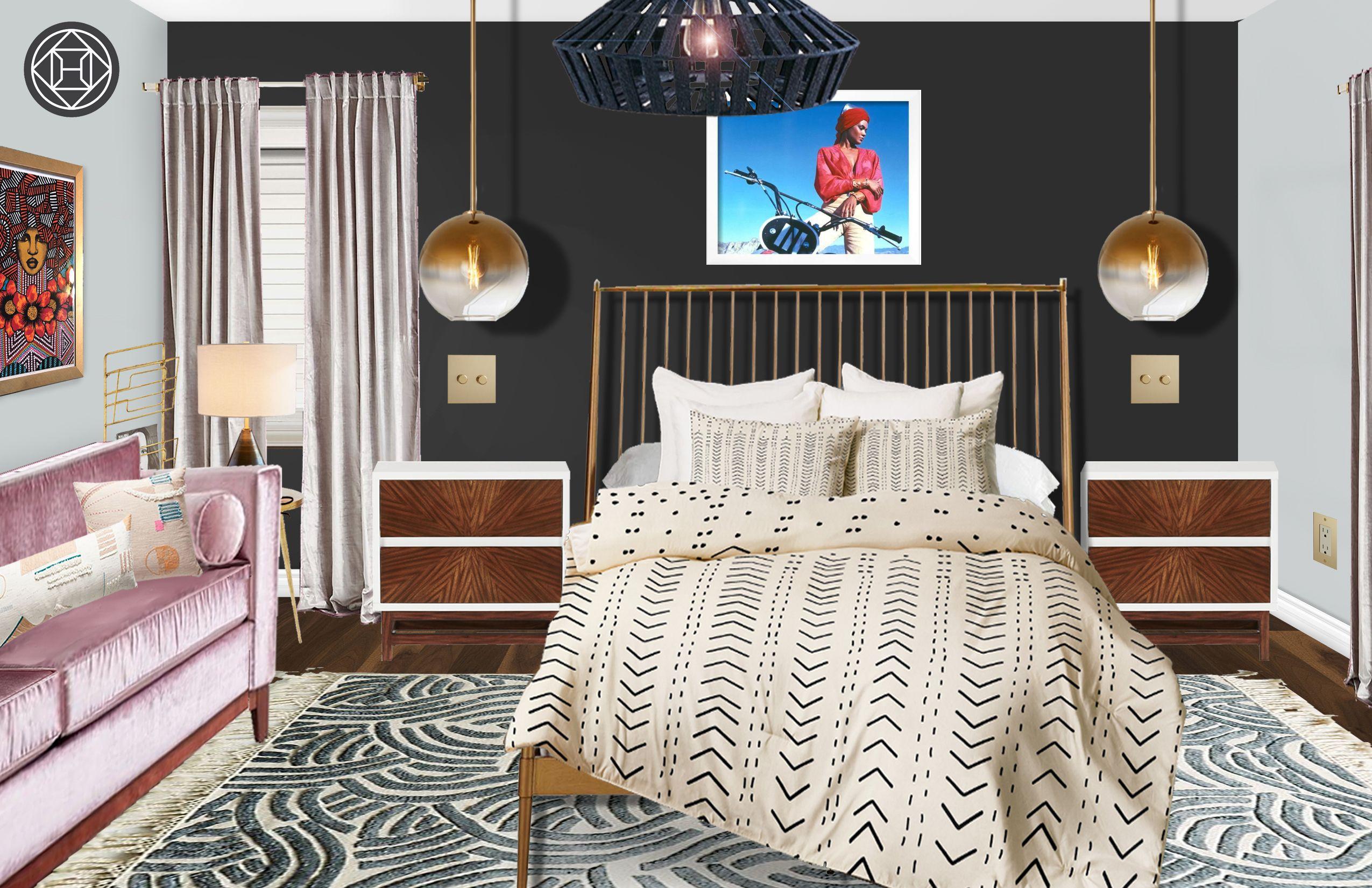 Best Eclectic Glam Global Midcentury Modern Bedroom Design 640 x 480