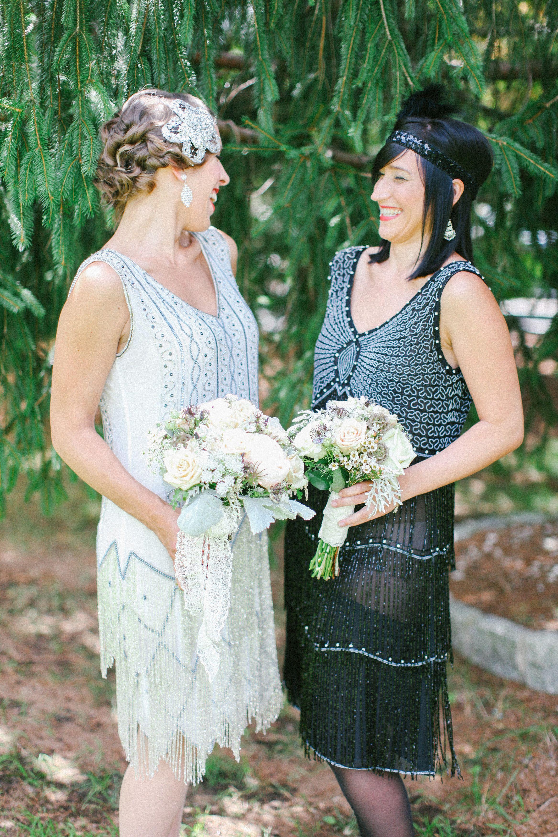 Gatsby bridesmaid dresses art deco wedding vintage chic