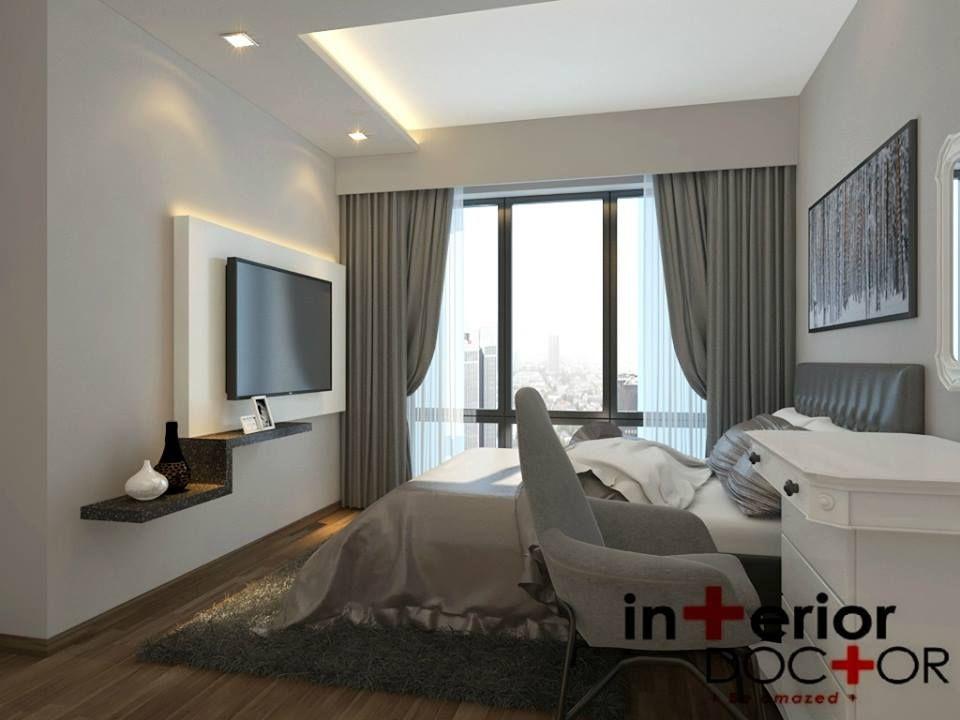 Master Bedroom Tv interior doctor modern contemporary master bedroom | Спальни