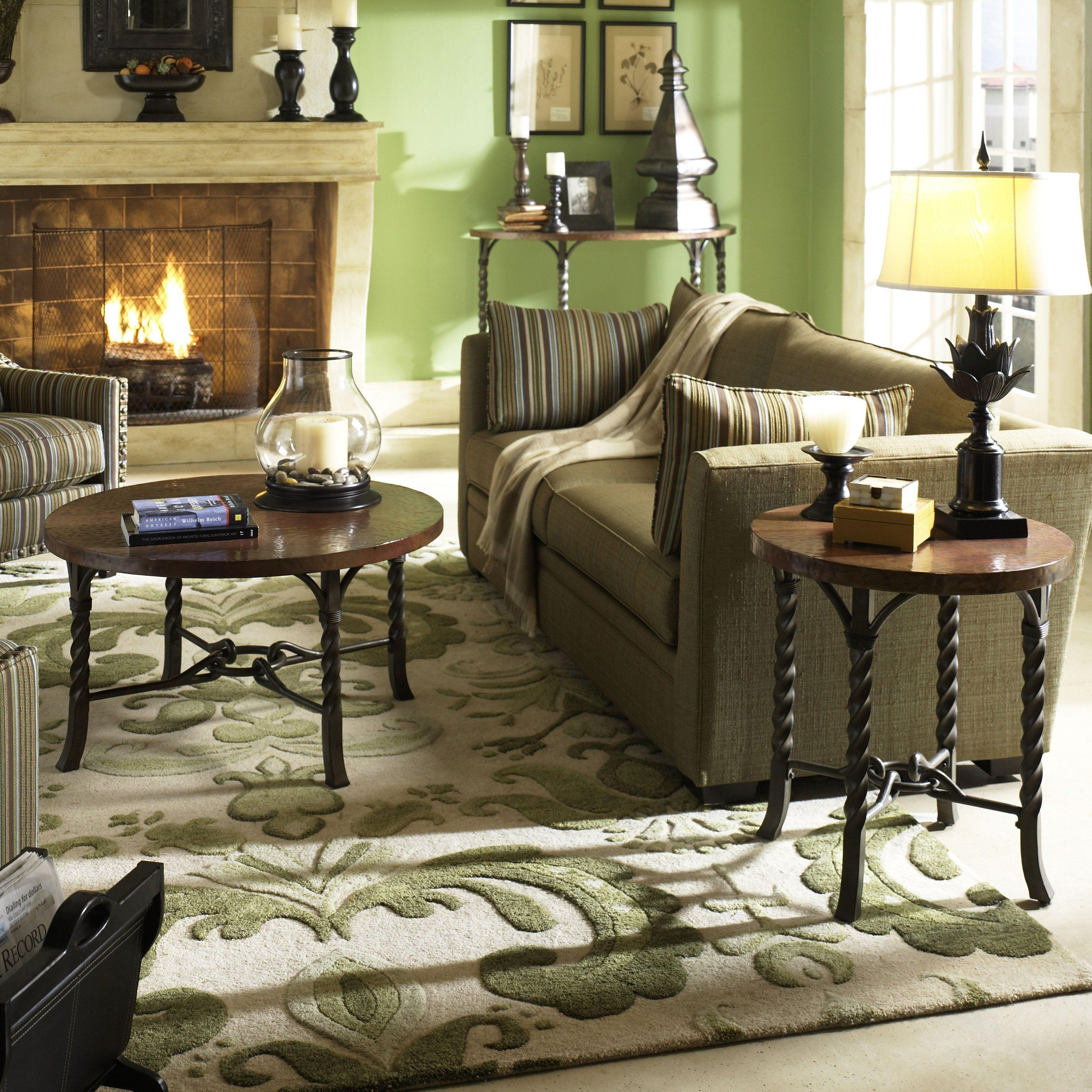 Have To Have It Riverside Medley Round Coffee Table Set Camden 1192 99 Furniture Riverside Furniture Rustic Charm Living Room [ 3200 x 3200 Pixel ]