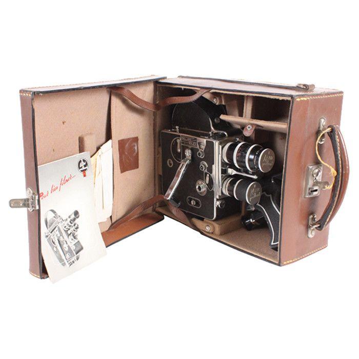 Vintage Paillard Bolex Movie Camera with Case