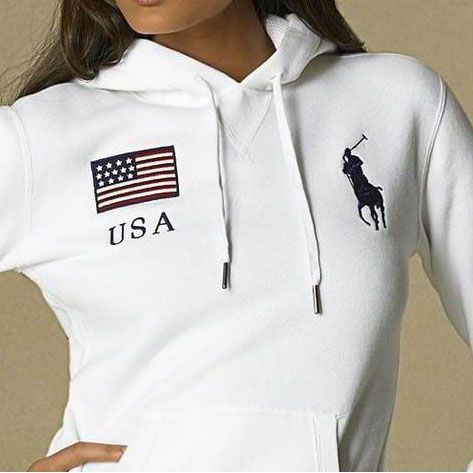 Polo Ralph Lauren Womens Flag Hoodie USA | Polo outfit