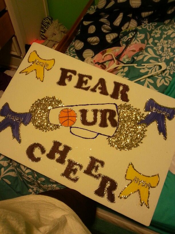Fear Our Cheer #Cheer #poster #ideas   Cheer posters ...