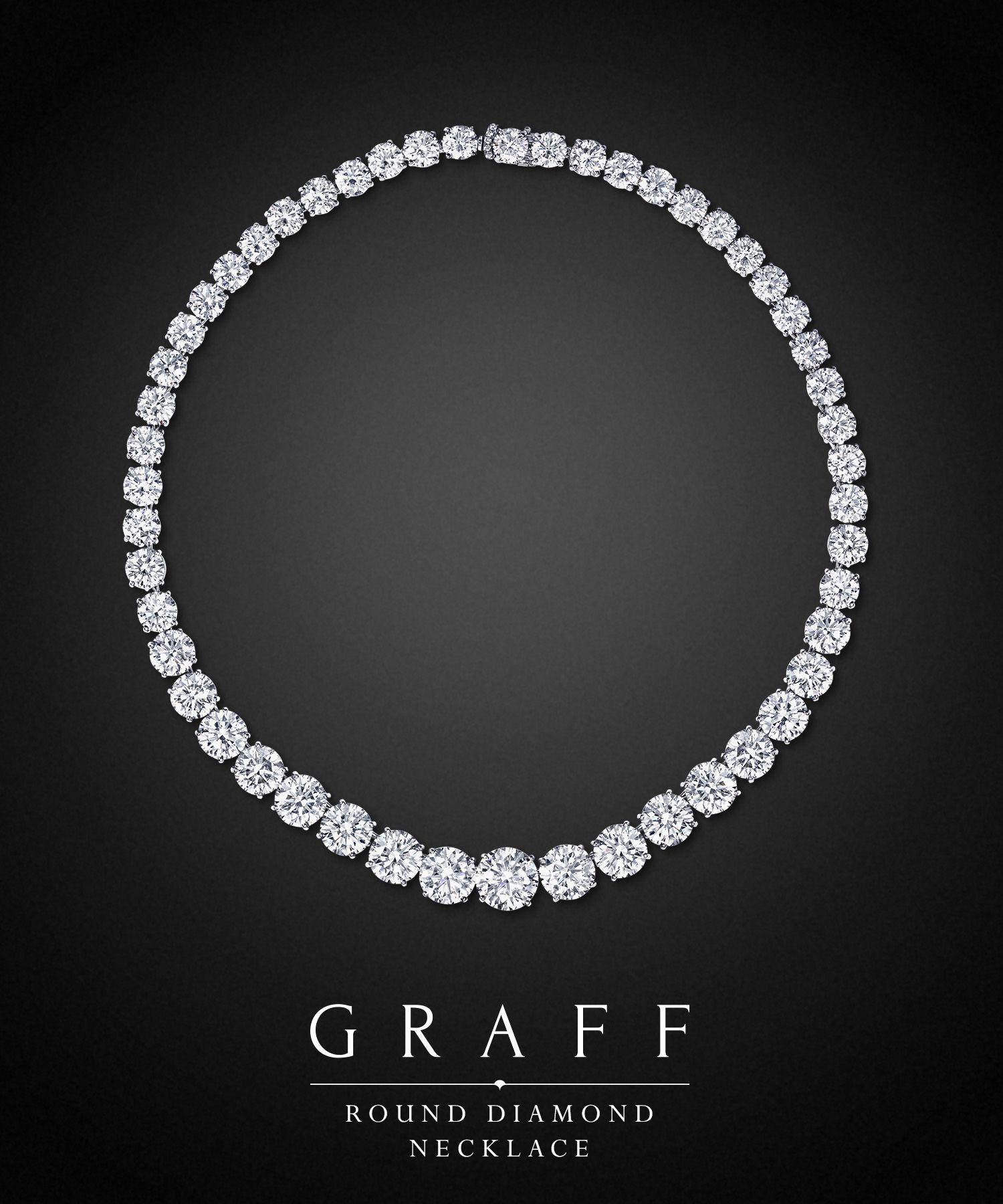 Round Diamond Necklace Graff Diamonds Graff Diamonds Graff Jewelry Diamond Necklace