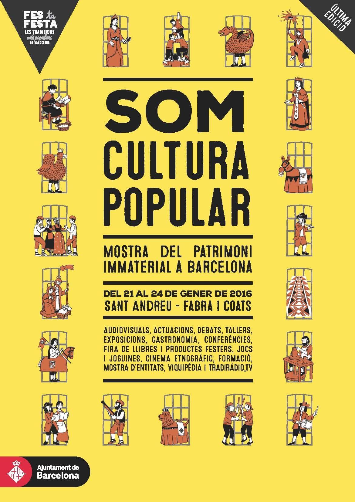 SOM CULTURA POPULAR, Mostra del Patrimoni Immaterial, del 21 al 24 de gener de 2016 a Sant Andreu - Barcelona  #setdimatge 22/1/16 #mesdimatge http://culturapopular.bcn.cat/ca/somculturapopular
