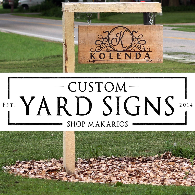 Custom Outdoor Yard Signs