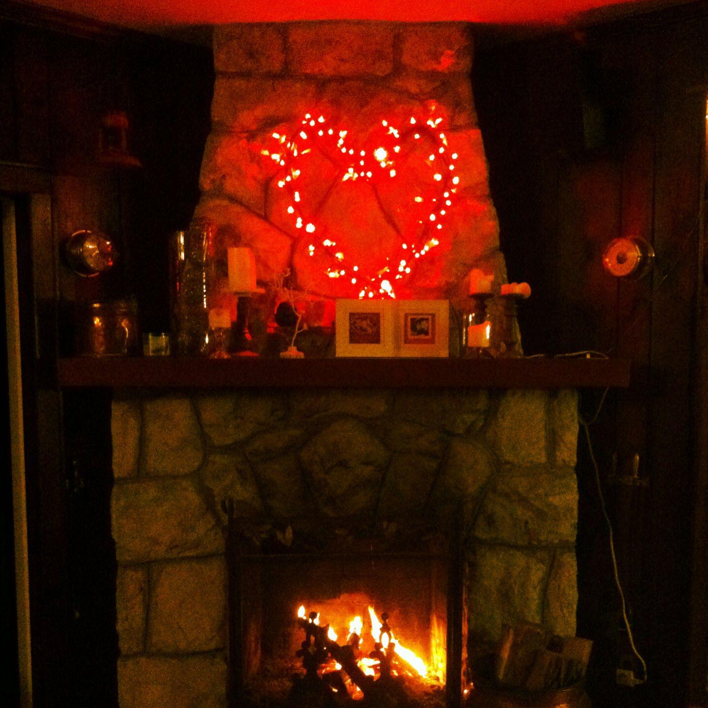 String light heart