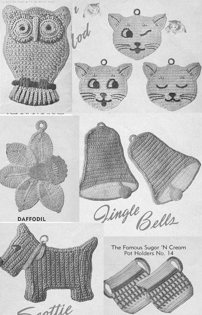 Ebook Pot Holders And Oven Mitts Vintage Crochet Pattern Pdf 16