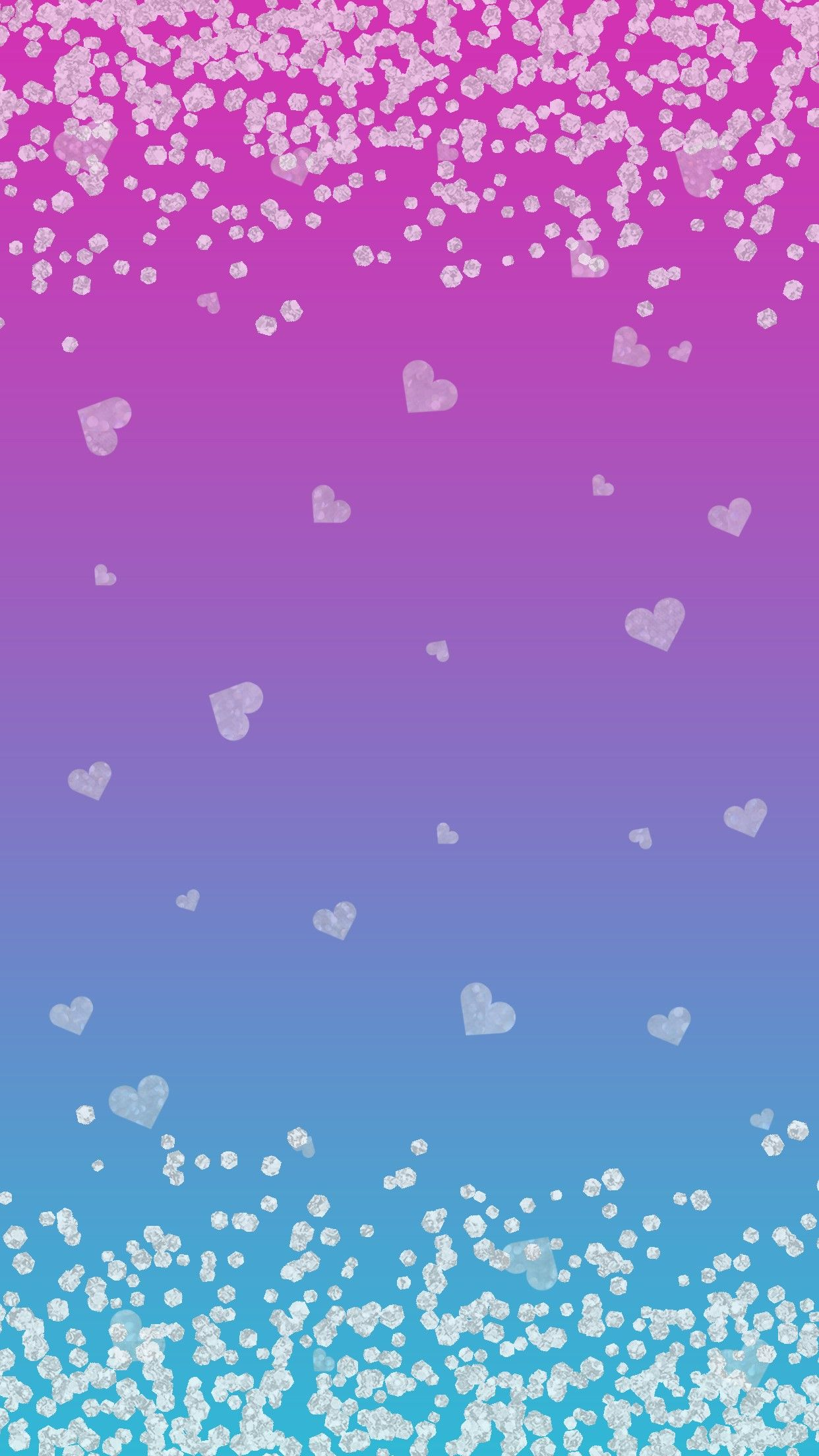 pretty blue hearts background wwwimgkidcom the image
