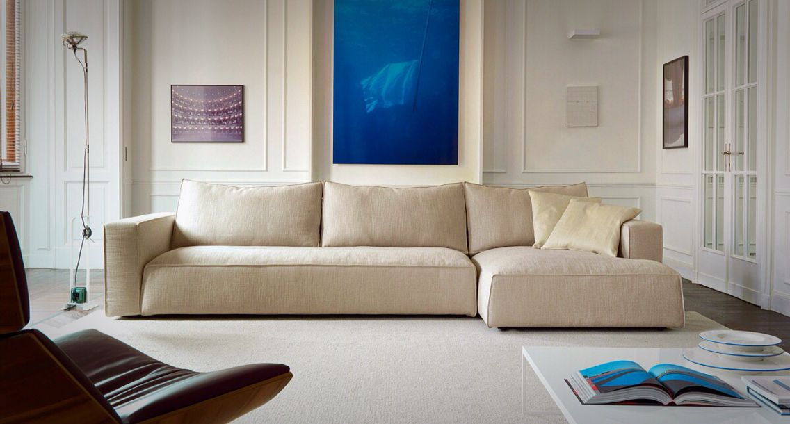 Sof y sala modular zenit tapizados en piel o tela con diferentes colores a elegir dise o de - Sofas en piel disenos italianos ...