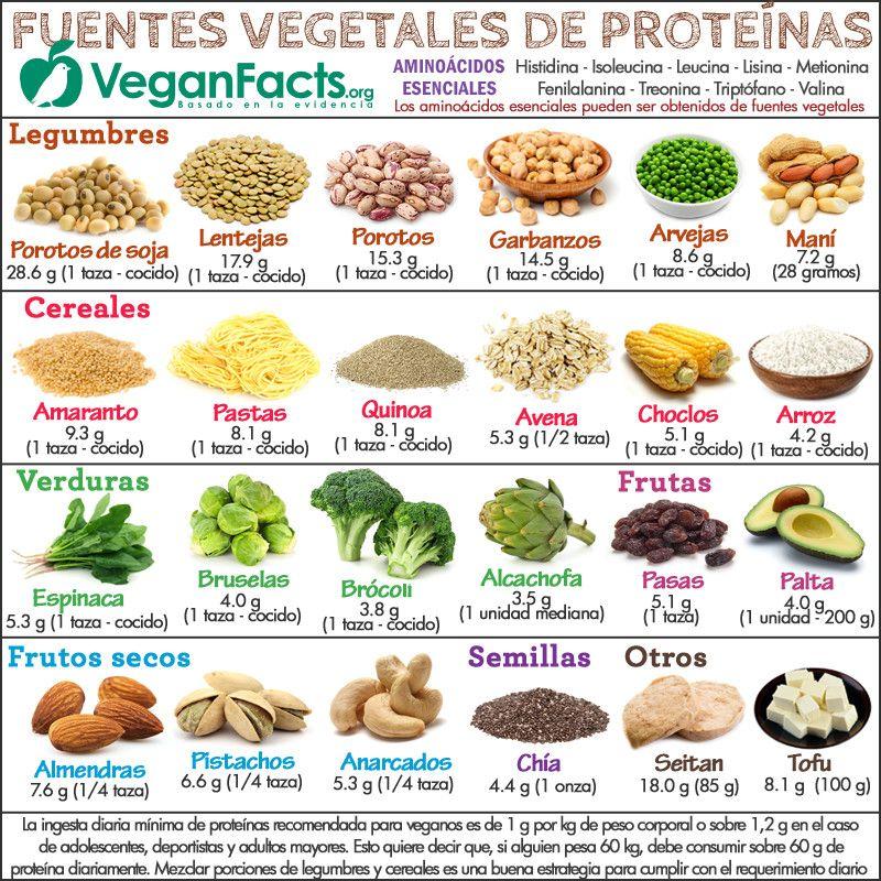 Mejores fuentes de proteina vegetal