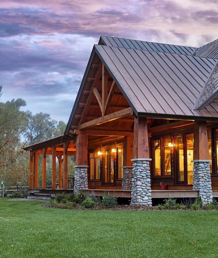 Pin by Rhea Boa on Roof paneling House styles, Log cabin