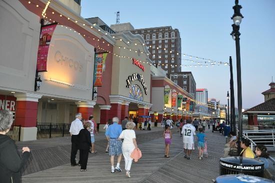Atlantic City Boardwalk Outside The Tropicana Atlantic City Atlantic City Boardwalk City