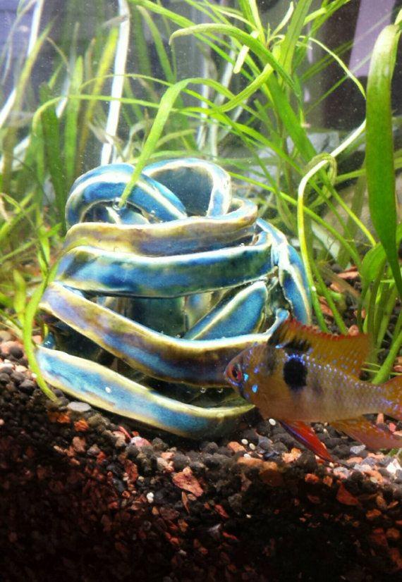 Betta Art Decorative Fish Bowl Aquascape Blue Ribbon Rock Baby Fish Hider Betta Bowlfishluv