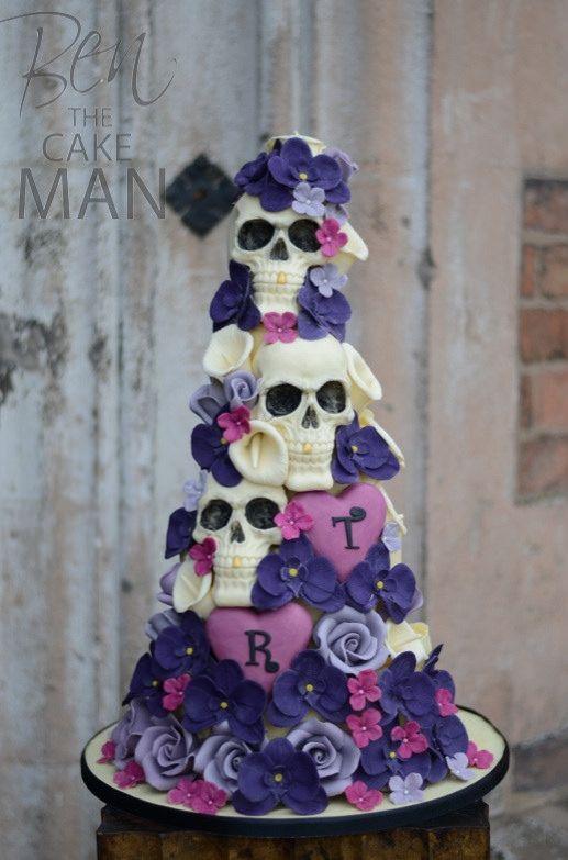 https://flic.kr/p/mdo3gR | Skull wedding cake