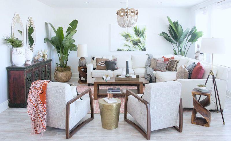 Bali Inspired Living Room Living Room Makeover Living Room