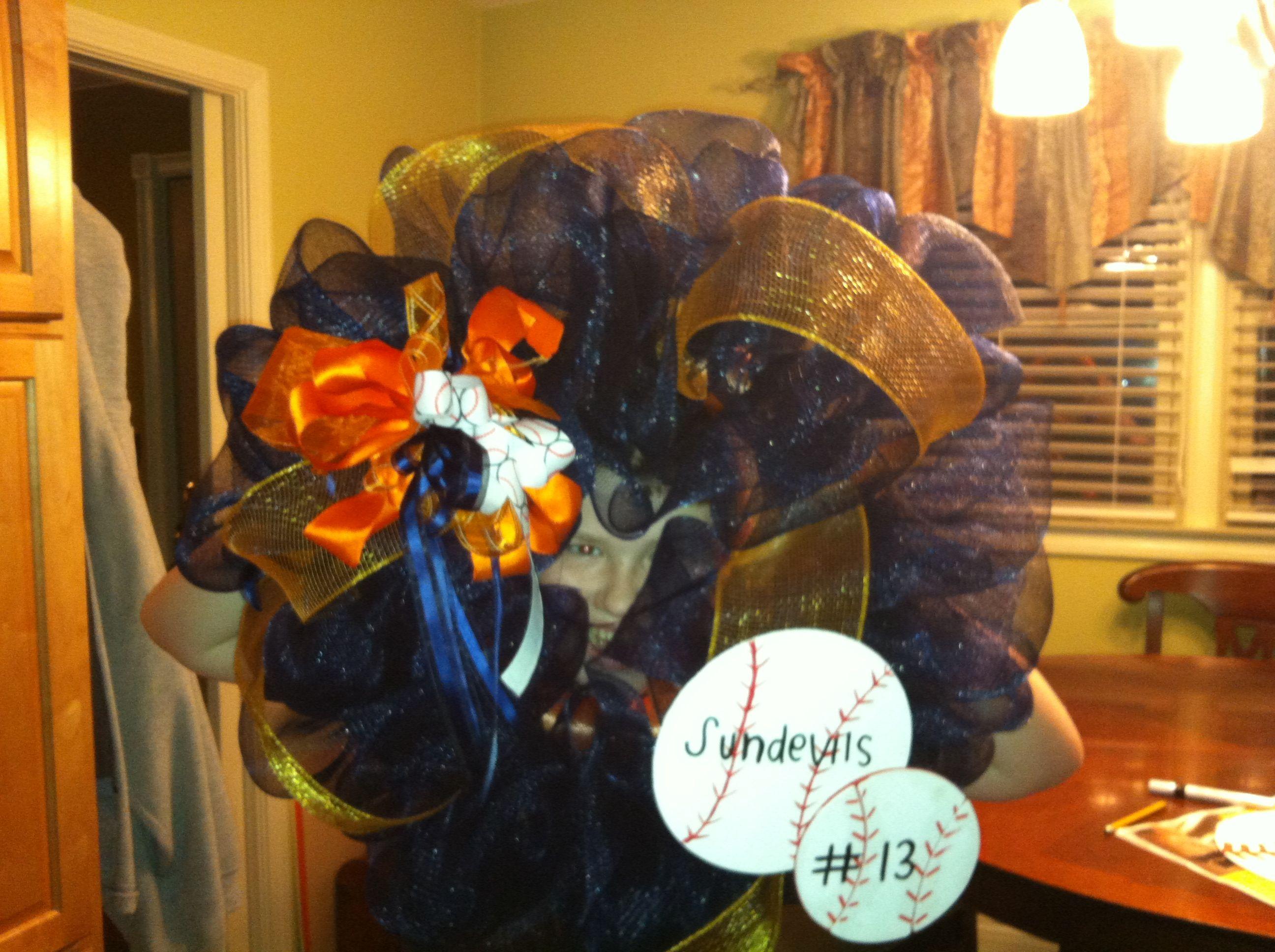 Baseball sun devils Wreaths, Home decor, Halloween