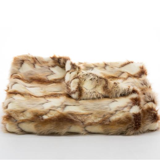 Fox Faux Fur Throw - Copper | Scenario Home
