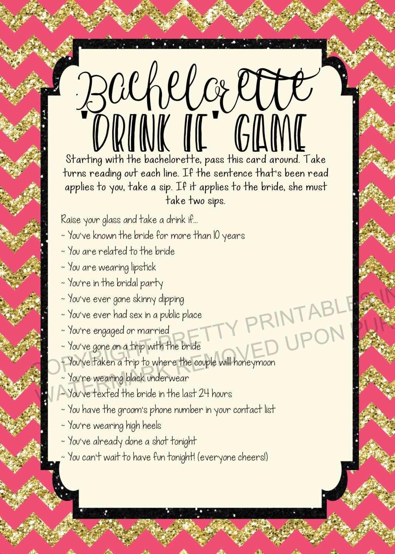 Instant Download Printable Bachelorette Game Bachelorette