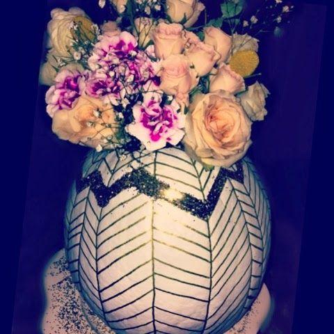 Glitter Pumpkin Vase