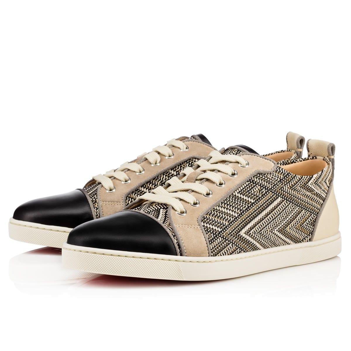 37e0a18b31d0 CHRISTIAN LOUBOUTIN Gondolier Orlato Flat Black Ivory Rafia - Men Shoes - Christian  Louboutin.  christianlouboutin  shoes