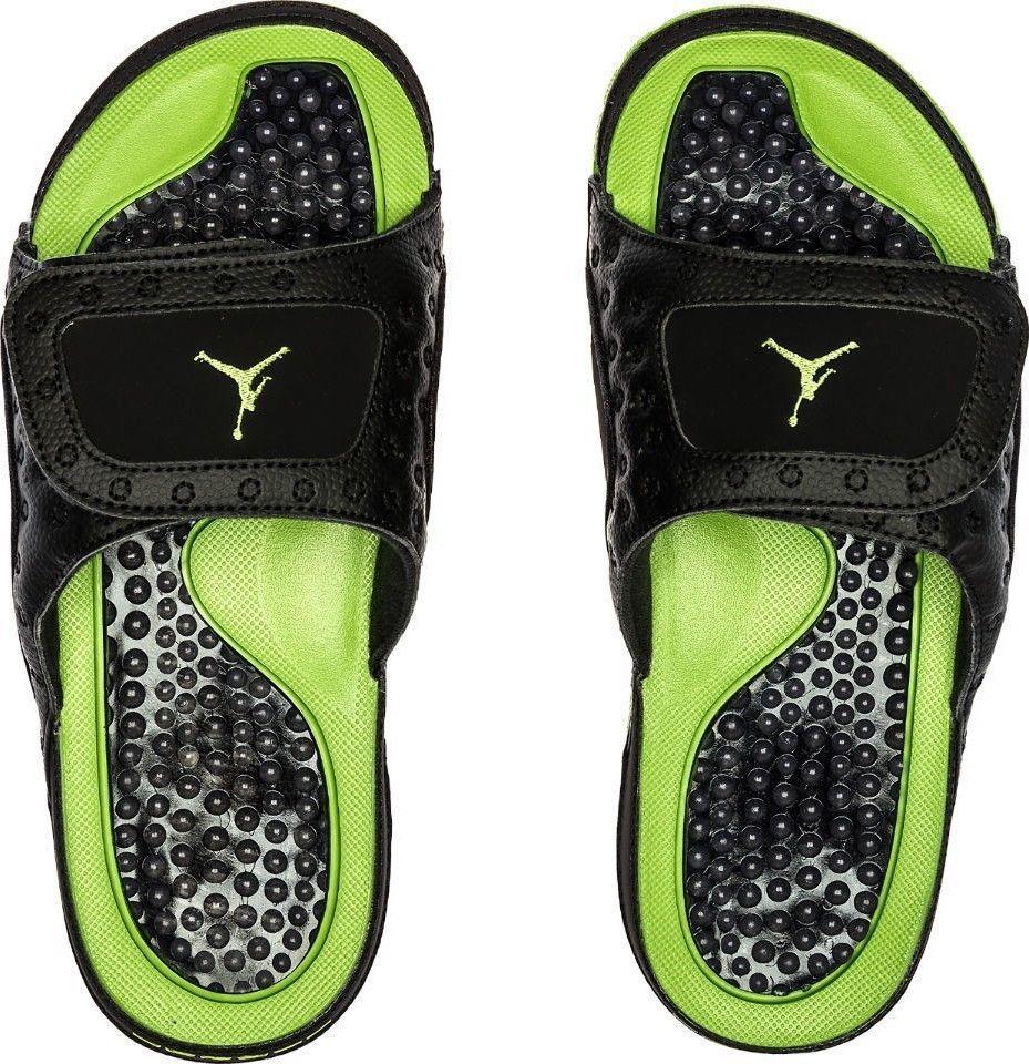 d9bce3ea031a Sandals 11504  Air Jordan Hydro Xii Retro Slide   684915 025 Black Altitude  Green Men