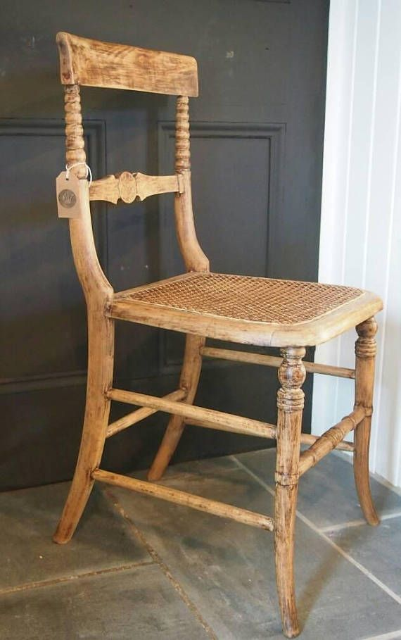 Antique Cane Chair Wooden Wicker Chair Decorative Wood