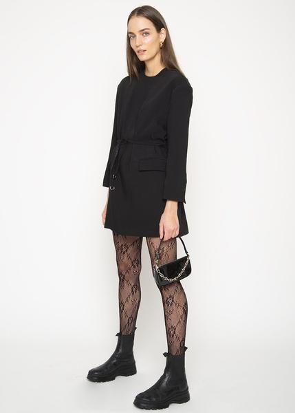 Mini Rachel Semi Patent Leather Bag in Black – The Frankie Shop