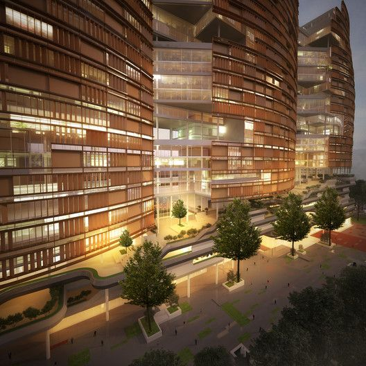 CnT Architects Provide Two Options for Design of Aurobindo Pharma Towers in India